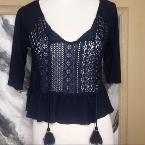 JOLT top navy blue. Size Medium